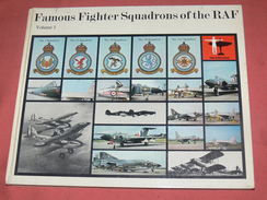 AVION MILITARIA / GUERRE WWII / FAMOUS FIGHTER  SQUADRONS OF THE RAF / VOLUME 1 / HYLTON LACY PUBLISHERS 1973 - Avion