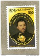 GABON : 100 Ans De La Mort D´Heinrich Von Stephan, Fondateur De L´UPU (Union Postale Universelle) -