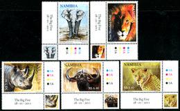 NAMIBIA 2011 African Big Five, Rhino, Elephant, Lion, Fauna MNH