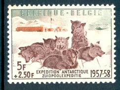 BELGIUM 1957 Belgian Antarctic Expedition Set (1v), XF MNH, MiNr 1072, SG 1619
