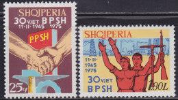 1(422). Albania 1975 Symbols Of Development, MNH (**) Michel 1755-1756 - Albanie