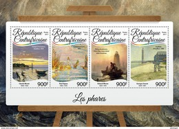 CENTRAL AFRICA 2017 - Lighthouses. Official Issue