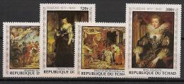 Tchad - 1978 - N°Yv. 348 à 351 - Rubens - Neuf Luxe ** / MNH / Postfrisch