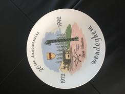 Assiette Hondeghem 20ème Anniversaire St Sébastien 1992  Tir A L Arc - Tir à L'Arc