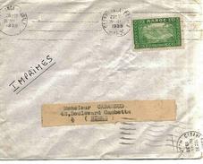 Maroc Morocco Lettre Cover Casablanca 1939 Tarif Imprimés Semences Schlax - Briefe U. Dokumente