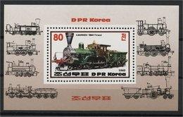 NORTH KOREA, LOCOMOTIVES SOUVENIR SHEET 1983 MNH - Bhoutan