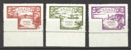 Canada Cinderella Cc5210 1-3 Mint Set/3 Canphil Services - Werbemarken (Vignetten)