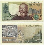 2000 LIRE  GALILEO GALILEI  SERIE SOSSTITUTIVA  XA D - [ 2] 1946-… : Républic