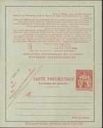 Entier Carte Lettre Pneumatique Chaplain 45F Rouge Orange Sans Recommandé Storch P316 V5 Cote 30 Euros