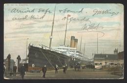 Great Britain Sc# 128 On Postcard 1904 7.31 R.M.S. Cedric Liverpool > USA - 1902-1951 (Re)