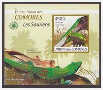 067 Comores 2009 Reptiles Lizard S/S MNH Imperf