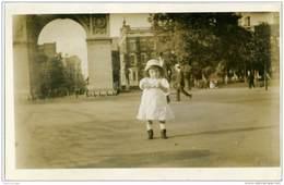 BAMBINA ENFANT CHILD  Card Da New York Per Penne Pescara 1915 - Photographs