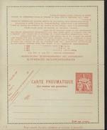 Entier Carte Lettre Pneumatique Chaplain 125F Orange Faux Pli Vertical Fil Soie ? Storch P316 V7 Cote 45 Euros