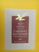 4231 - Les Vignerons De La Méditerramée Narbonne 1995 Cabernet Sauvignon - Vin De Pays D'Oc