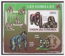 0111 Comores 2009 Aap Ape Monkey Gorilla S/S MNH Imperf - Apen