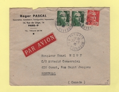 Marianne De Gandon - Destination Canada - 27-7-1946 - Postmark Collection (Covers)