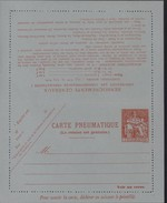 Entier Carte Lettre Pneumatique Chaplain 1.50F Orange Sur Papier Gris Bleu Storch P318 V10 Cote 30 Euros
