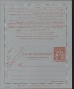 Entier Carte Lettre Pneumatique Chaplain 1.60F Orange Sur Papier Gris Bleu Storch P318 V11 Cote 30 Euros
