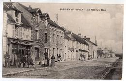 SAINT JEAN ( Les Deux Jumeaux ) - Seine Et Marne - La Grande Rue - Ed. Brindelet - La Ferte Sous Jouarre