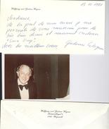 Lettre De Gudrun Mack 2de épouse De Wolfgang Wagner 1981 Et Photo Amateur De Wolfgang 1975