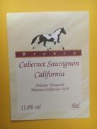 4240 - Bronco Cabernet Sauvignon Californie USA Cheval - Etiquettes