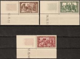 Saarland MiNr. 299 + 300 + 303 ** Volkshilfe: Bilder Aus Der Lutwinus-Legende - Deutschland