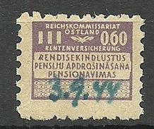 ESTLAND Estonia 1944 German Occupation Revenue Tax Reichskommissariat Ostland 60 Pf O - Occupation 1938-45