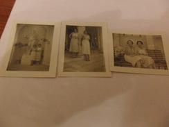 3 FOTO  Formato Piccolo Di 2 DONNE Alle Terme Di ACQUE ALBULI 1935 - Persone Anonimi