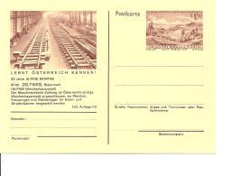 Österreich P 436-13 ** - 1,50 Sh Erzberg BiPo, 90 Jahre Alpine Montan, Bild Weichenbau In Der Maschinenfabrik Zeltweg