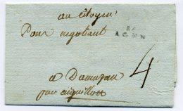 MP 45 AGEN / Dept Lot Et Garonne / 8 Prairial An 7 / Taxe 4 Sols Manuscrite - Marcophilie (Lettres)
