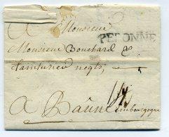 MP PERONNE  Lenain N°4  35x4.mm / Dept De La Somme /1767 / Taxe 14 Sols Manuscrite - Marcophilie (Lettres)