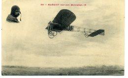 CPA  BLERIOT Sur Son MONOPLAN 16  Carte N°58 - Aviateurs