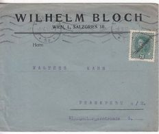 Austria: Commercial Cover; Wilhelm Bloch, Wien, To Frankfurt, 8 May 1918 - Österreich