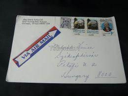 Chichago USA Air Mail Székesfehérvár Hungary - Stamps