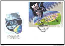 10706/ Espace (space) Lettre (cover) 12/4/1993 Fdc Bloc 223 Russie (russia)