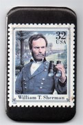 Magnet - Timbre à 32 Cts - William T.Sherman - Characters