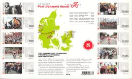Denmark MNH 2015 Sheet Of 10 Post Danmark Rundt 25th Anniversary