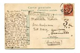 !!! CPA DE 1904 POUR JERSEY TAXEE A L'ARRIVEE - 1877-1920: Semi Modern Period