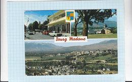 CPSM - En Parcourant La Cerdagne   BOURG MADAME - Multivues - Douane - Chapelle HIX - Vue Générale Aérienne - France