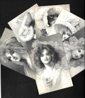 [DC10171] CPA - SERIE DI 6 CARTOLINE - BAMBINE ACCONCIATURE CAPPELLI MODA RITRATTI - Non Viaggiata - Old Postcard - Cartoline