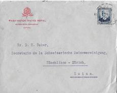 Spain Used Nicolas Salmeron (1931) Postage Of Letter A Suiza - 1931-Heute: 2. Rep. - ... Juan Carlos I