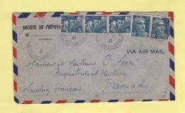 Marianne De Gandon - Destination Bamako - Soudan Francais - 22-12-1947 - Postmark Collection (Covers)