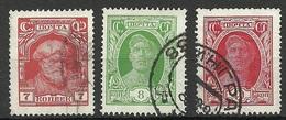 RUSSLAND RUSSIA 1928 Michel 343 - 344 & 350 O