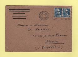 Marianne De Gandon - Destination Belgrade Yougoslavie - 8-1-1948 - 1921-1960: Moderne