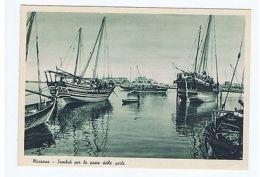ERITREA - MASSAWA - SAMBUK FOR THE FISHING OF PEARLS - EDIT C.A.O. 1936 ( 1511 ) - Postales