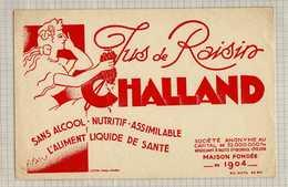 Buvard & Blotting Paper :Jus De Raisins CHALLAND  Nuit Saint Georges - Limonades