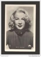 OLD GLAMOUR PIN UP WOMAN MOVIE STAR BETTY HUTTON CINEMA MOVIES DIVA BEAUTY POSTCARD - Attori