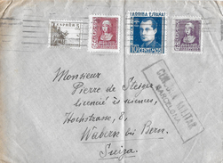 Letter Of Spain To Switzerland, Censura Militar Bercelona - 1931-Heute: 2. Rep. - ... Juan Carlos I