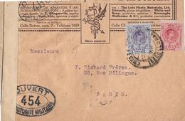 Letter Of Spain To Switzerland, Censura Militar  → M. Huertas, S.A. - Barcelona - 1889-1931 Königreich: Alphonse XIII.