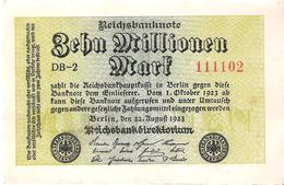Germany - Pick 106 - 10.000.000 (10000000) Mark 1923 - VF+ - [ 3] 1918-1933 : Repubblica  Di Weimar